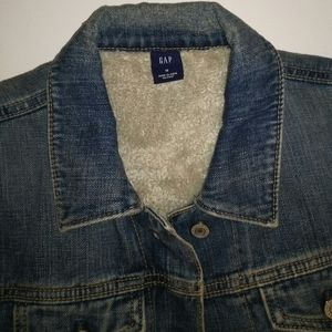 Gap classic denim jacket with warm lining